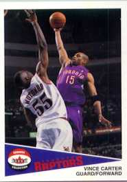 2002 Fleer Shoebox # 14  raptors vince carter promo card