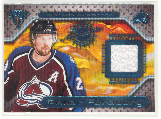2000-01 Titanium Game Gear #74 Peter Forsberg