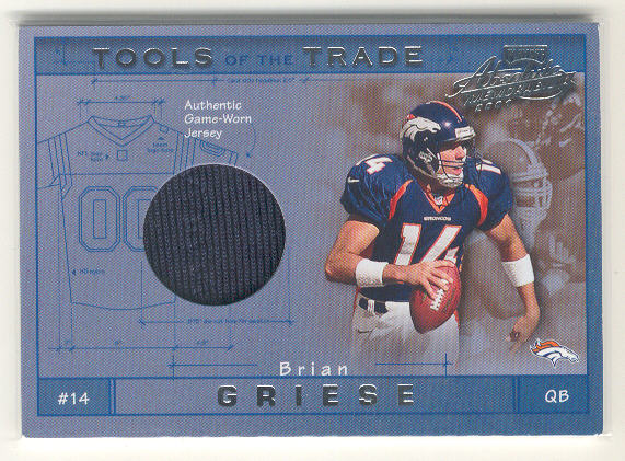 2001 Absolute Memorabilia Tools of the Trade #TT4 Brian Griese JSY