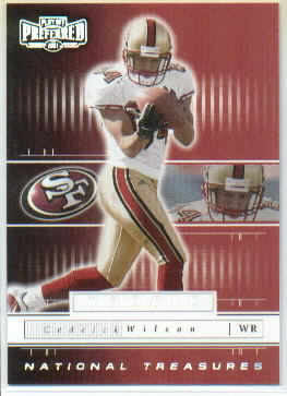 2001 Playoff Preferred National Treasures Silver #145 Cedrick Wilson