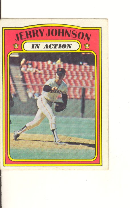 1972 Topps #36 Jerry Johnson IA