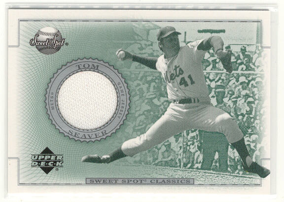 2002 Sweet Spot Classics Game Jersey #JTS Tom Seaver