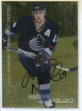 1999-00 BAP Millennium Autographs Gold #242 Markus Naslund