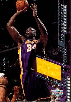 2000-01 Upper Deck Game Jerseys 1 #SOC Shaquille O'Neal