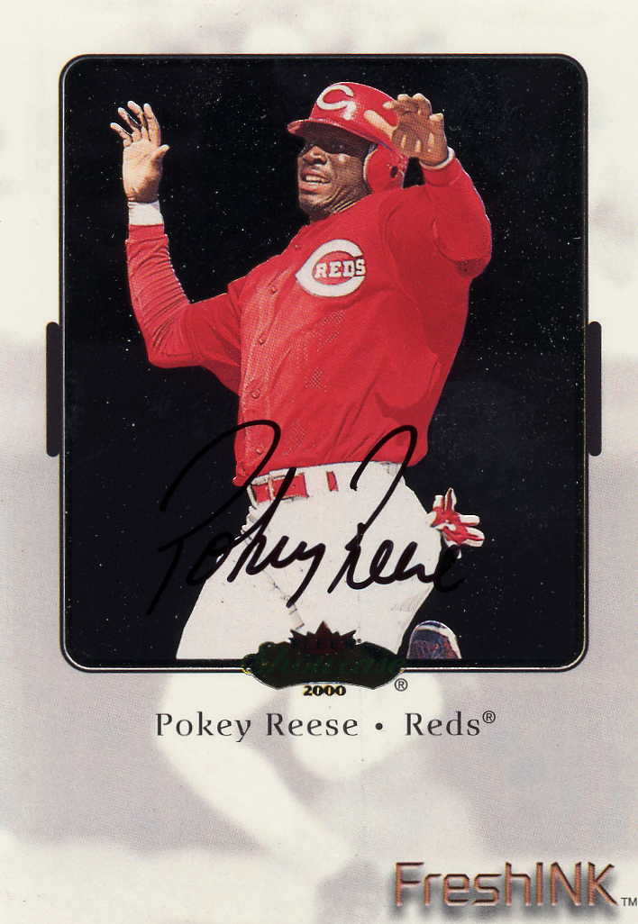 2000 Fleer Showcase Fresh Ink #33 Pokey Reese