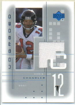 2001 UD Graded Jerseys #CH Chris Chandler