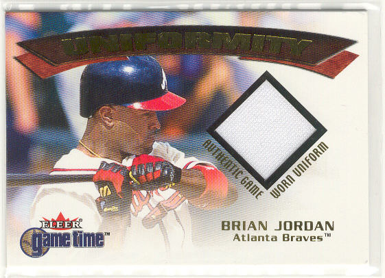 2001 Fleer Game Time Uniformity #10 Brian Jordan