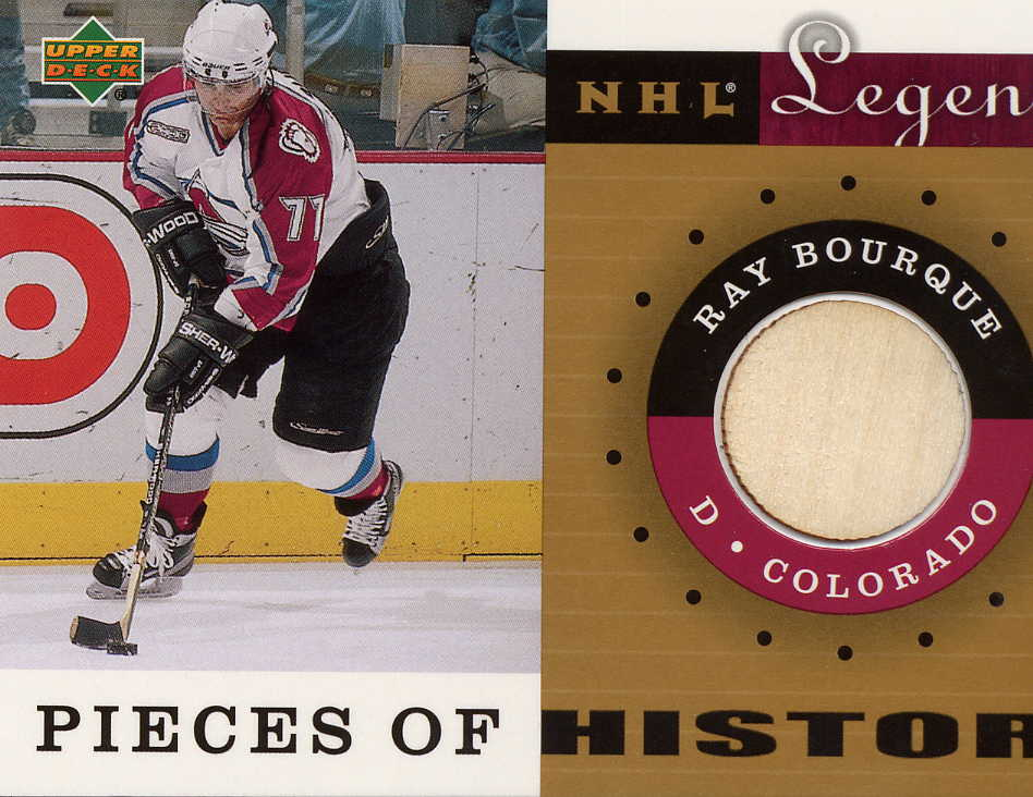 2001-02 Upper Deck Legends Pieces of History Sticks #PHRA Ray Bourque Col.