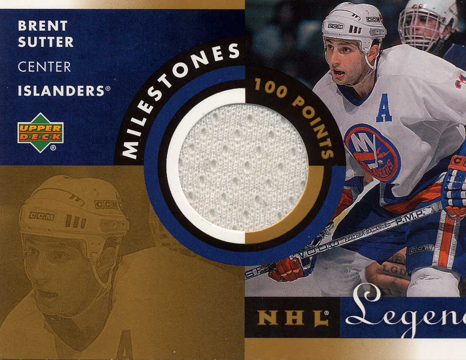 2001-02 Upper Deck Legends Milestones Jerseys #MBS Brent Sutter