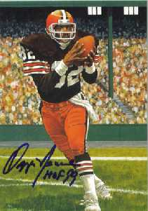 Browns HOF Ozzie Newsome Goal line autograph