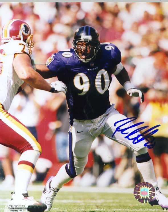 Baltimore Ravens Rob Burnett autographed photo