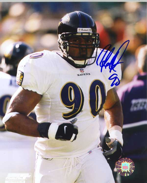 Baltimore Ravens Rob Burnett autograph photo