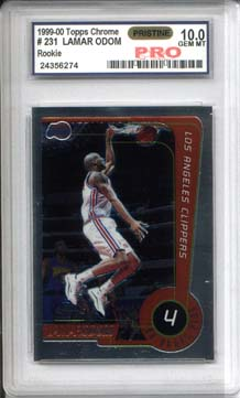 1999-00 Topps Chrome #231 Lamar Odom Graded Pro Pristine Gem Mint 10
