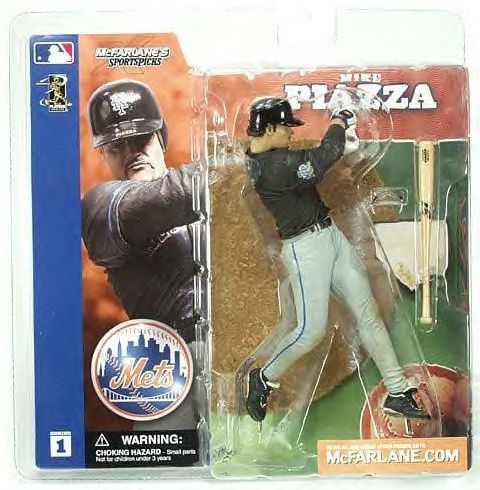 McFarlane Sportspicks Figure MLB Series 1 MIKE PIAZZA Black Jersey New York Mets