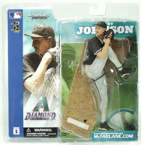 McFarlane Sportspicks Figure MLB Series 1 RANDY JOHNSON Black Jersey Arizona Diamondbacks
