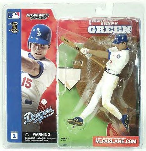 McFarlane Sportspicks Figure MLB Series 1 SHAWN GREEN White Jersey Los Angeles Dodgers