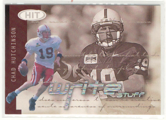 2002 SAGE HIT Write Stuff #10 Kurt Kittner