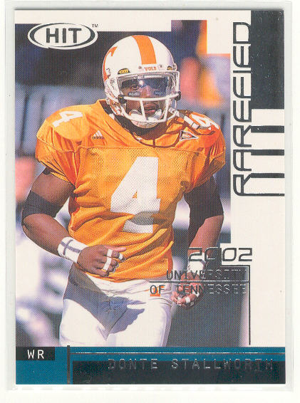 2002 SAGE HIT Rarefied Silver #R24 Donte Stallworth