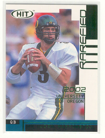 2002 SAGE HIT Rarefied Emerald #R3 Joey Harrington