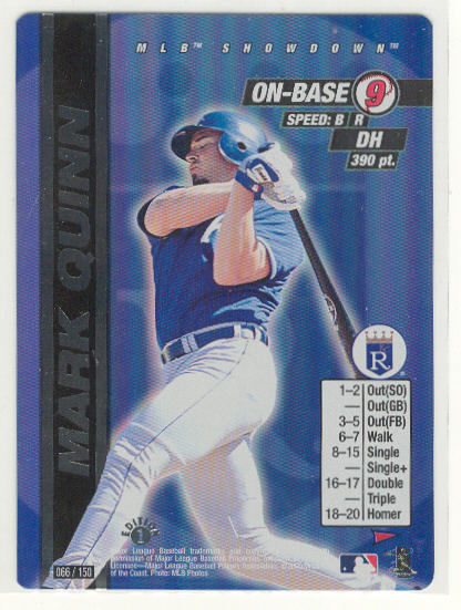 2000 MLB Showdown Pennant Run 1st Edition #66 Mark Quinn FOIL