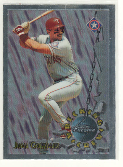 1996 Topps Chrome Wrecking Crew #WC8 Juan Gonzalez