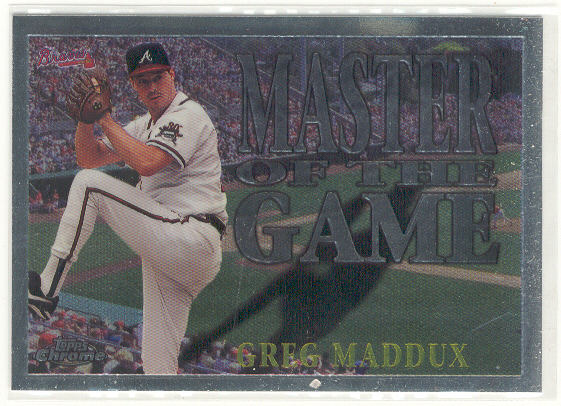 1996 Topps Chrome Masters of the Game #19 Greg Maddux