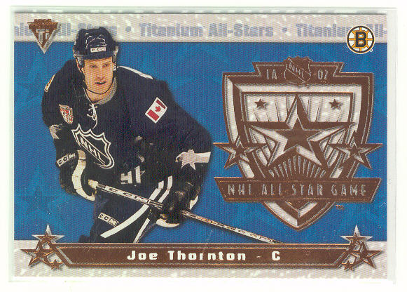 2001-02 Titanium All-Stars #1 Joe Thornton