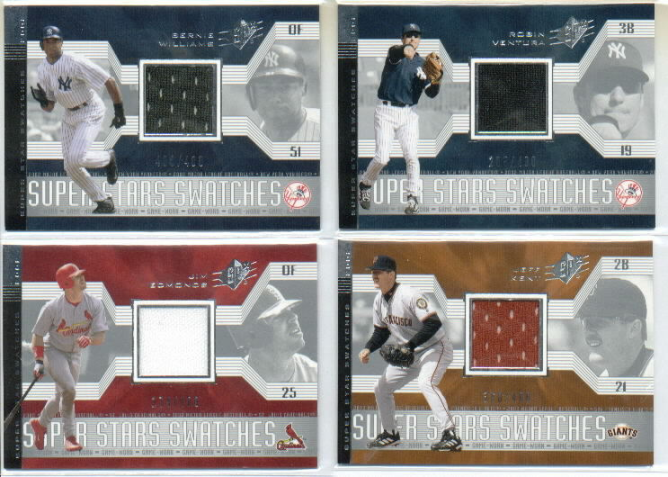 2002 SPx SuperStars Swatches Silver #181 Jim Edmonds