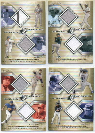 2002 SPx Winning Materials 2-Player Jersey Combos #WMWP David Wells/Jorge PosadaDP