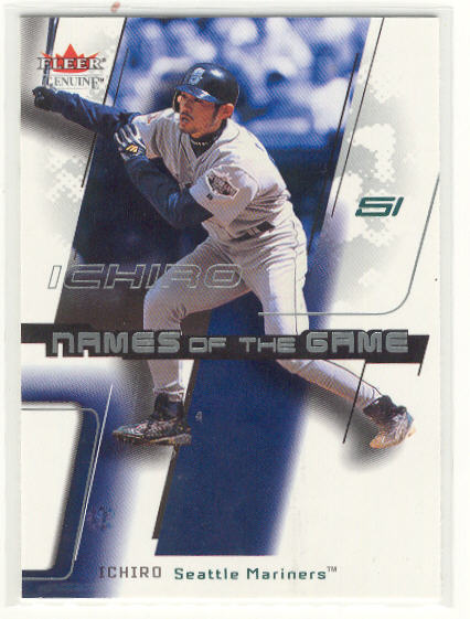 2002 Fleer Genuine Names of the Game #30 Ichiro Suzuki