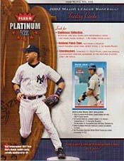 2002 Fleer Platinum Baseball Hobby Box, Factory Sealed 