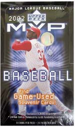 2002 Upper Deck MVP Baseball Hobby Box, Factory Sealed