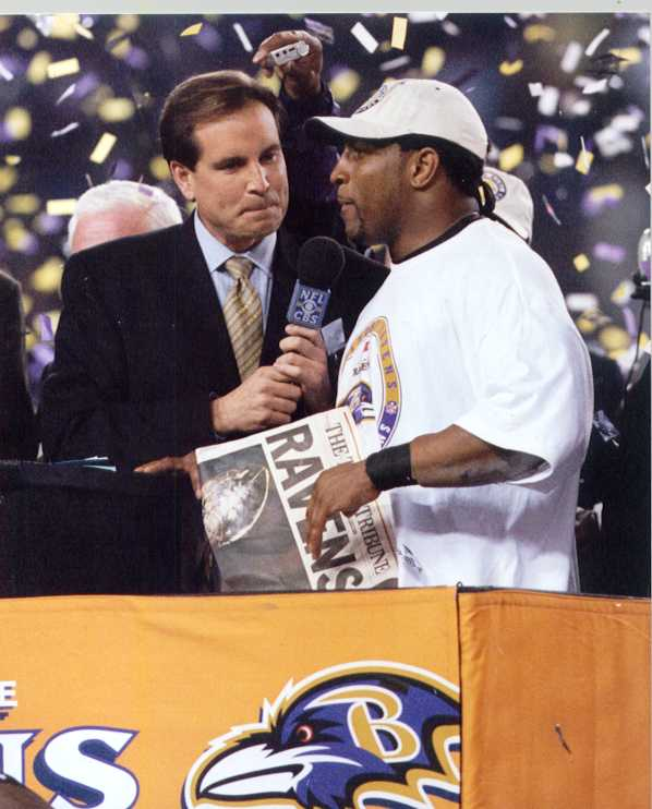 Ravens Ray Lewis Superbowl Photo