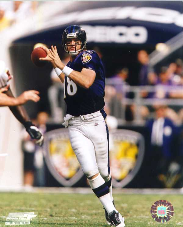 Baltimore Ravens Elvis Grbac color photo