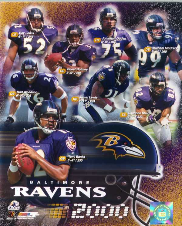 Ravens 2000  team color photo