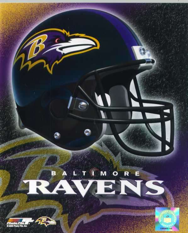 Baltimore Ravens helmet color photo