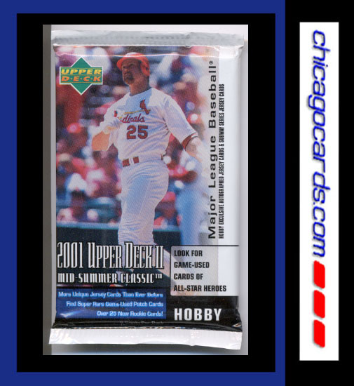 2001 Upper Deck II Mid-Summer Classic Baseball Pack