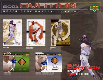2001 Upper Deck Ovation Baseball Hobby Box, Factory-Sealed