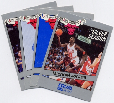 1991 Chicago Bulls 25th Silver Anniversary Season 16-card Set