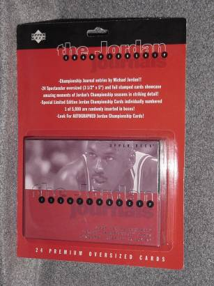 1997 Upper Deck The Michael Jordan Championship Journals Box Set  front image
