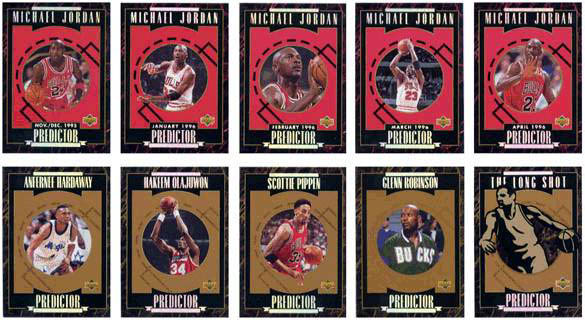 1996 Upper Deck Predictor 10-card set