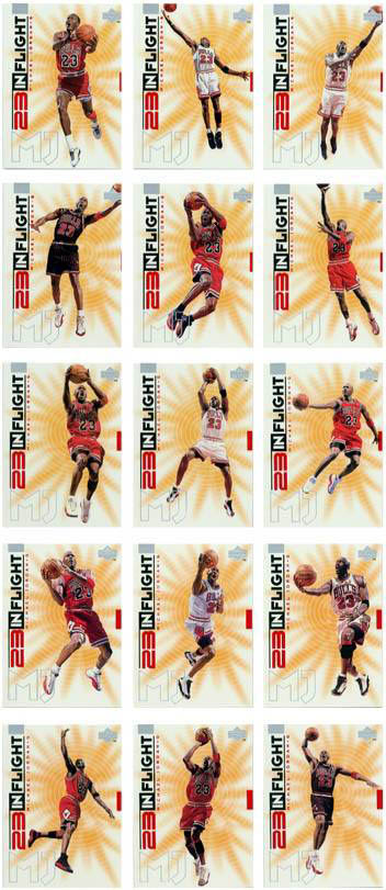 1998 Uper Deck 23 In Flight Michael Jordan card set  front image