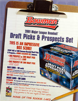 2001 Bowman Draft Picks & Prospects Baseball HOBBY Box/Set  (Including  Rookie Card RC of Chase Utley, Ichiro Suzuki; Bonus: 1 Autograph and 1 Relic Card per Set) Factory-Sealed