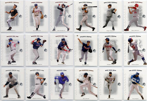 2001 Upper Deck SP Authentic Baseball Complete Set