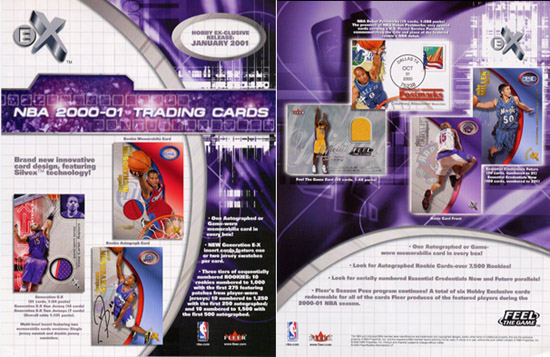 2000-01 Fleer E-X Basketball Hobby Box, Factory-Sealed