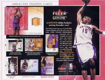 2000-01 Fleer Genuine Basketball Hobby Box, Factory-Sealed