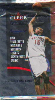2000-01 Fleer Genuine Basketball Hobby Pack Special Price!
