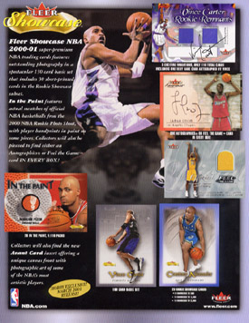 2000-01 Fleer Showcase Basketball Hobby Box, Factory-Sealed