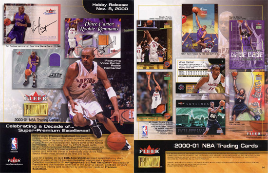2000-01 Fleer Premium Basketball Hobby Box, Factory-Sealed