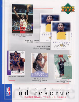 2000-01 Upper Deck UD Reserve Basketball Hobby Box, Factory-Sealed